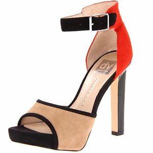 Dolce Vita Pica Mulit Suede Block Heels
